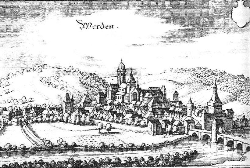 Ansicht Werden 1570