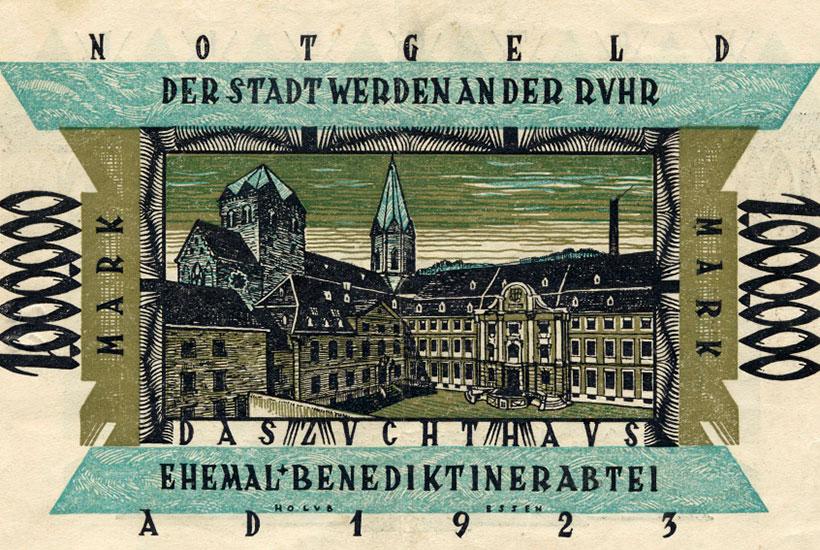 Abbildung der Basilika St. Ludgerus auf Notgeld