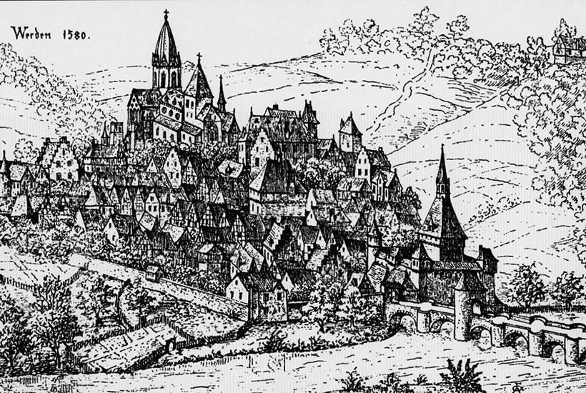 St. Ludgerus Werden im Jahr 1580