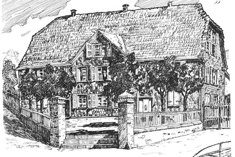 Historische Ansicht des Hauses