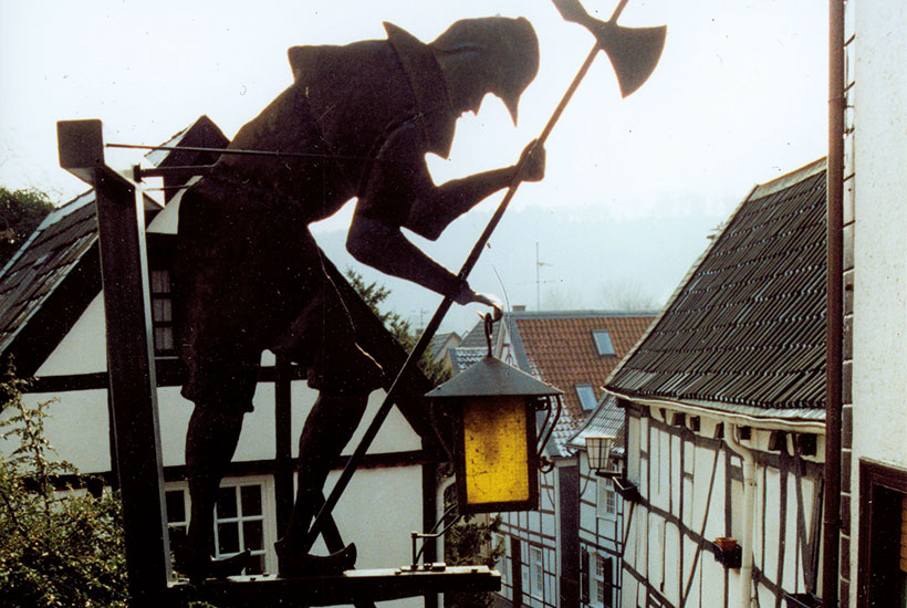 Kirchtreppe Nachtwächter