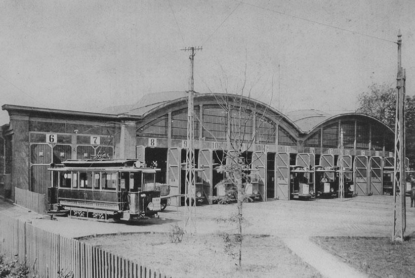 24-3: Straßenbahn-Betriebshof Bredeney (Alfredusbad) um 1911