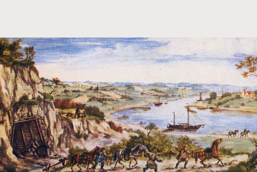 14-2: Stollenmundloch, Pferdetreiber und Ruhraake um 1800
