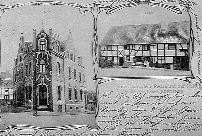 """27-4: Altes und neues """"Restaurant zur Post"""" 1904"""