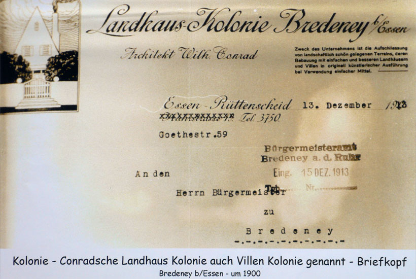 9-1: Briefkopf Landhaus-Kolonie 1913