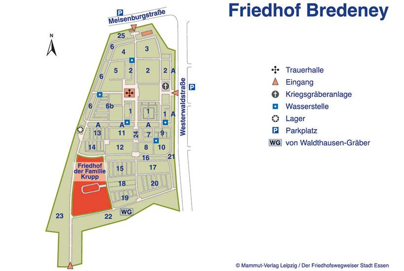 20-6: Plan des Friedhofs Bredeney
