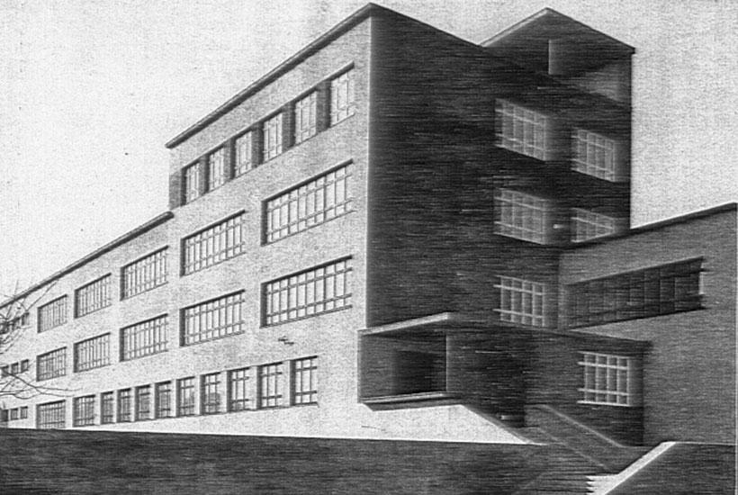 22-3: Grashof Gymnasium – Nordansicht 1932