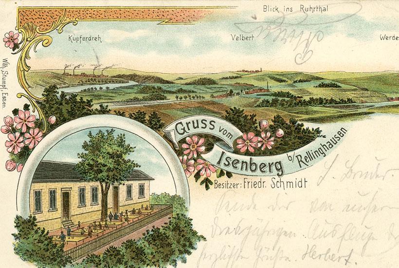 """5-3: Gaststätte """"Auf dem Isenberge"""" um 1900"""