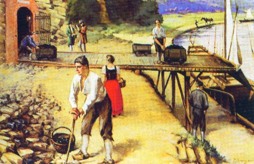 7-4: Frühe Kohleverladung in Ruhraaken