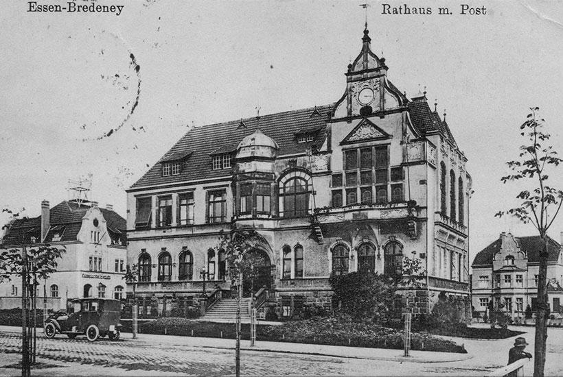 15-1: Rathaus Bredeney um 1905