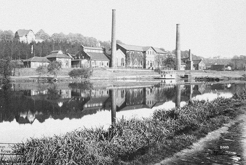 1-3: Kruppsches Gas- und Wasserwerk mit Akkumulatorenhaus für das Elektrizitätswerk um 1903