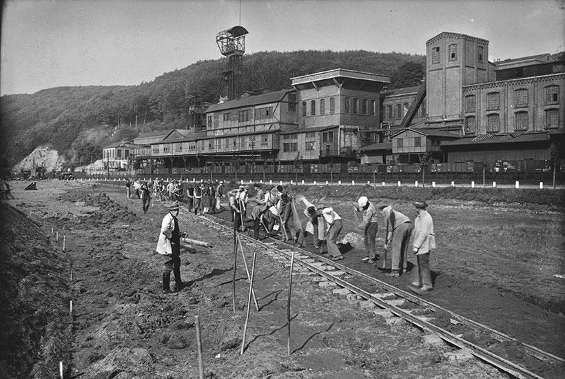 1-6: Bau des Baldeneysees um 1930