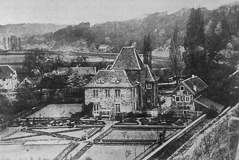 3-2: Schloss Baldeney in den 1870er-Jahren – noch ohne die Remise