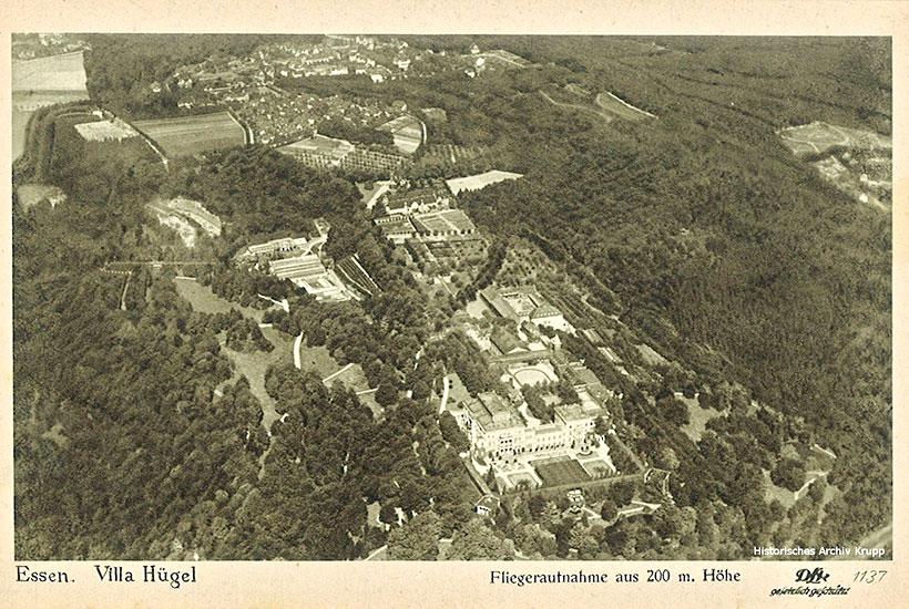 13-1: Luftbild Villa Hügel um 1920