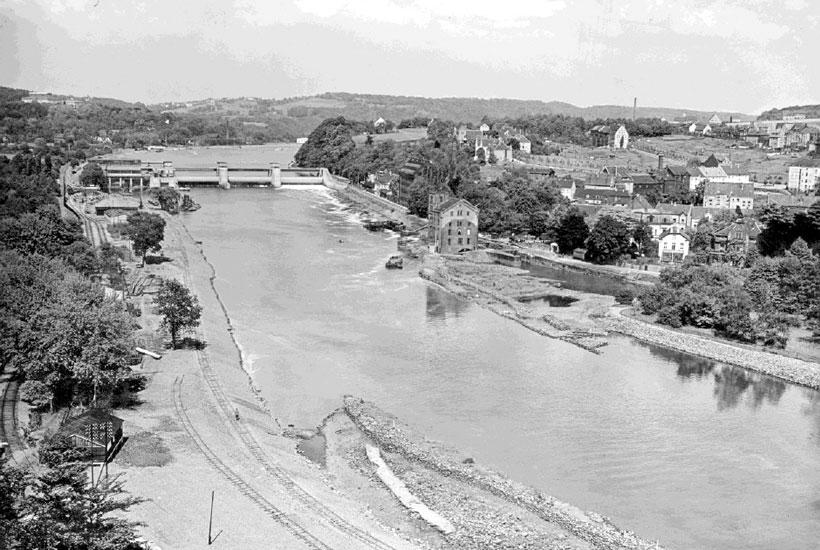 Die Ruhr unterhalb des Wehres, 1933