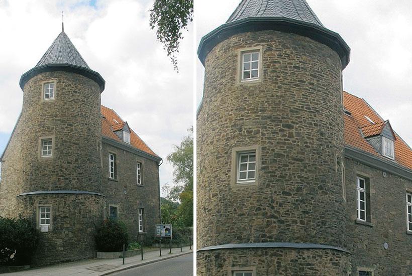 Frontansicht mit Turm