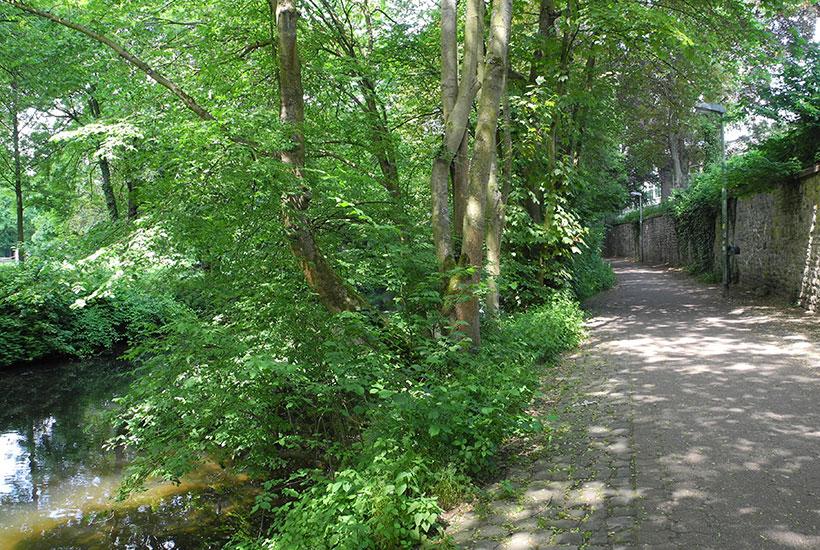 Heyerstrang, Weg zur Neukircher Mühle