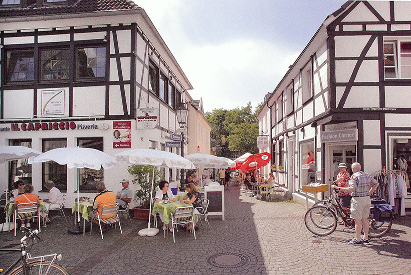 Straßenszene in der Grafenstraße