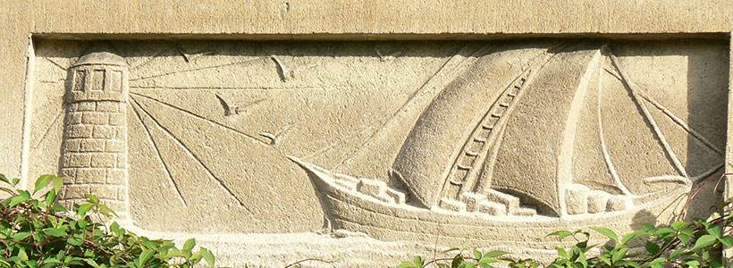Relief am Haus Maybachstraße 3