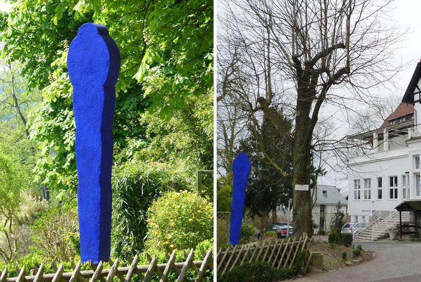 Skulpturenpark – MenschenZeichen mit Gelsenkirchener Blau