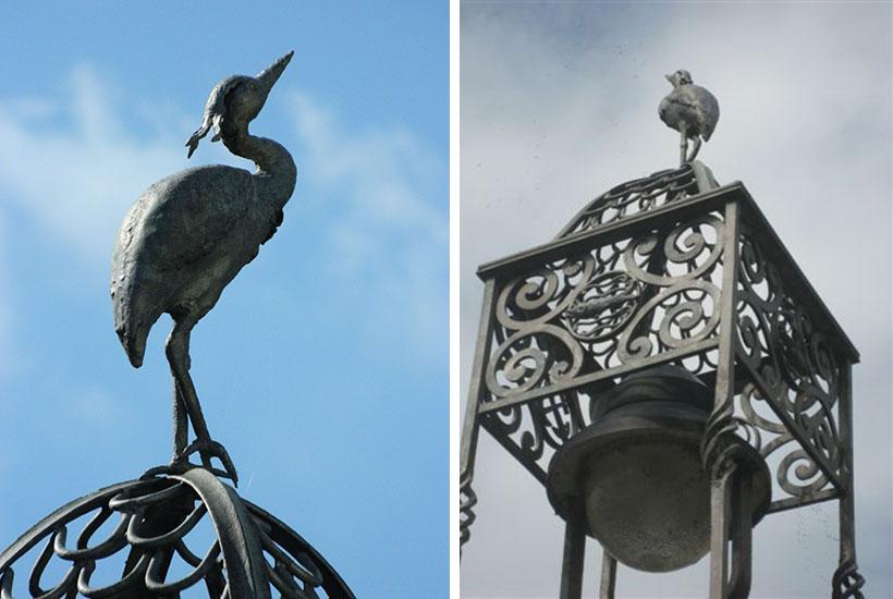 """Skulpturenpark – """"Fischreiher"""""""