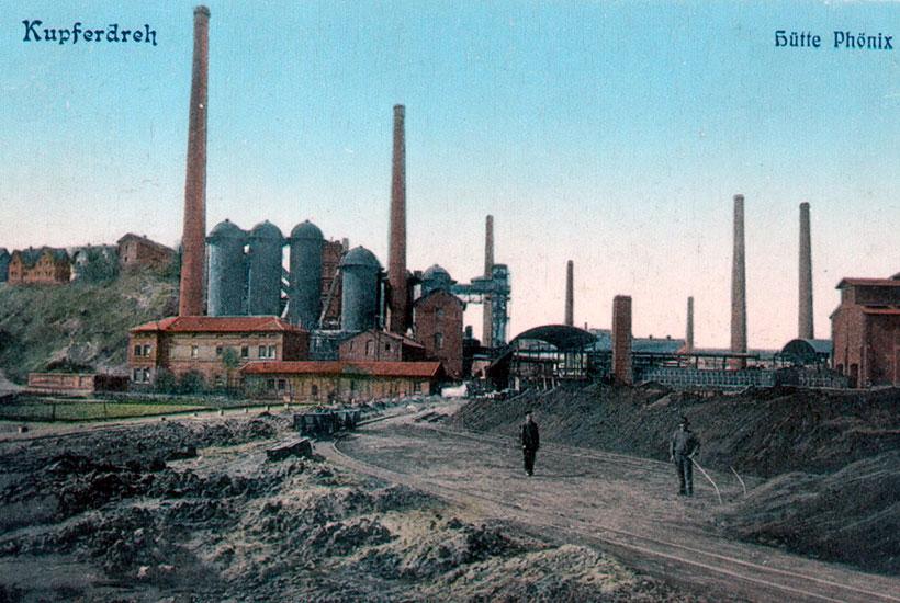 "Historische Postkarte ""Hütte Phönix"""