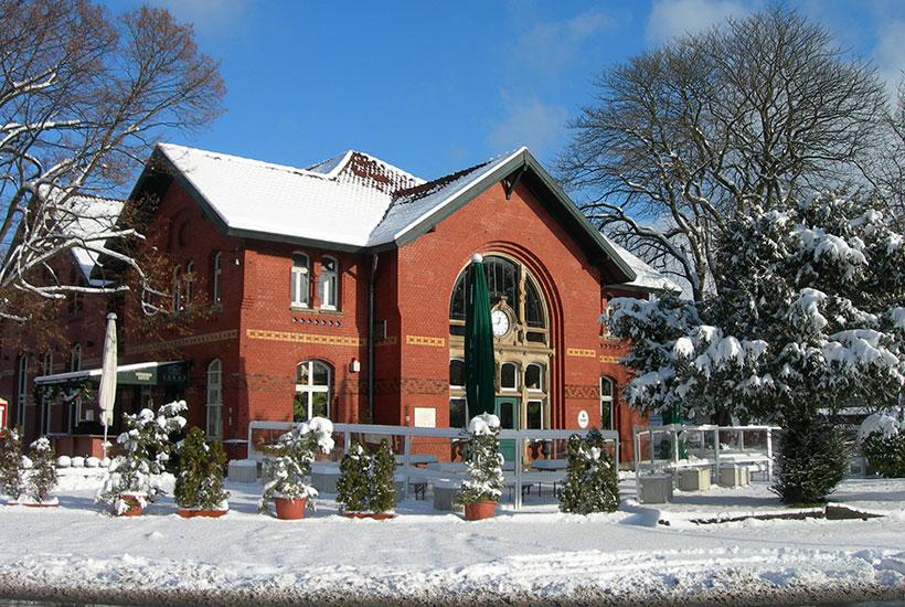 "Der alte Bahnhof in Kupferdreh beherbergt heute die Gastronomie ""Lukas"""