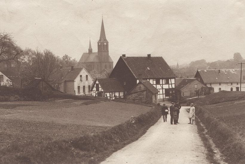Historische Ansicht auf Dilldorf